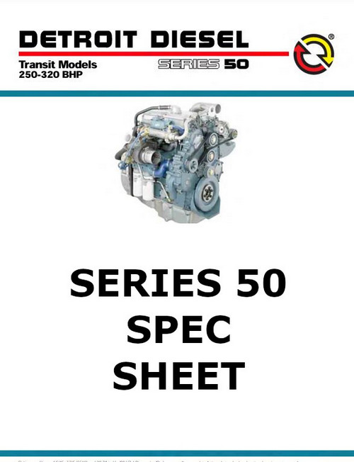 image Detroit Diesel Series 50 spec sheet - p1