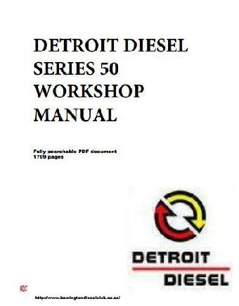 image Detroit Diesel Series 50 workshop manual - p1