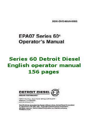 Detroit Diesel series 60 operator manual p1