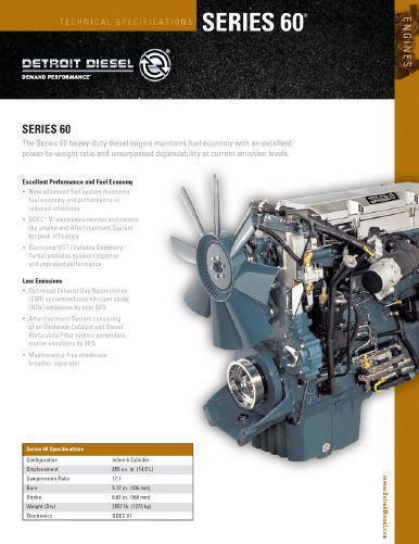 Detroit Diesel series 60 spec sheet