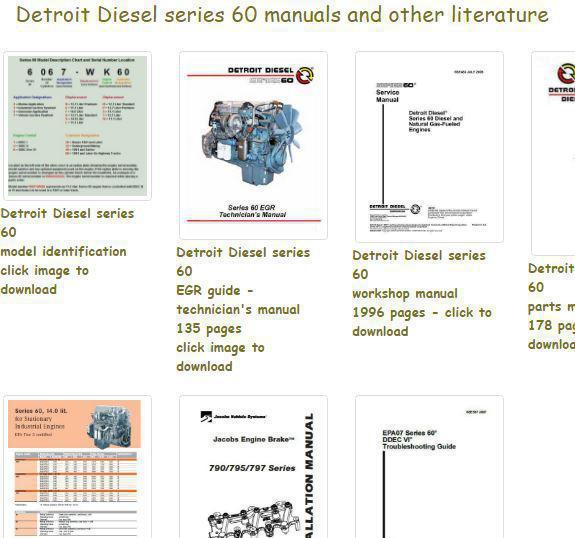 Detroit Diesel 60 series manuals