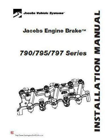 Detroit Diesel series 60 jake brake installation