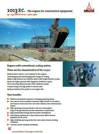 image Deutz 1012 E1013 EC Spec Sheet for power pump applications p1