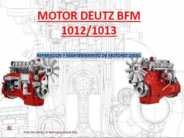 Deutz bfm1012 1013 reparacion y mantenimiento de motores p1