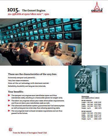 Deutz 1015 diesel engine specs, manuals, bolt torques