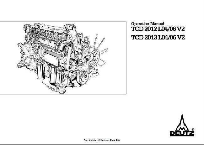 Deutz 2012, 2013 operation manual v2 p1