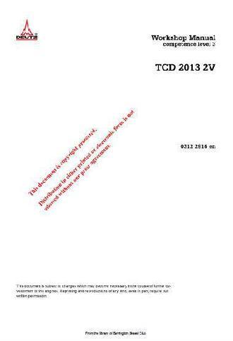 Deutz 2013 workshop manual p1