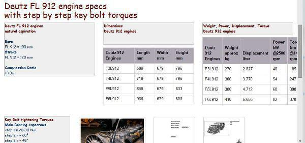 image Deutz F6L912 engine essential specs