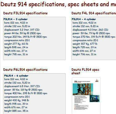 image Deutz 914 engine - essential specs