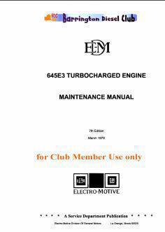 EMD 645 series workshop maintenance manual p1