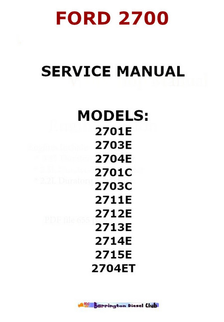 ford dover engine manual
