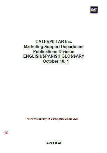 Caterpillar - English-Spanish, technical dictionary p1