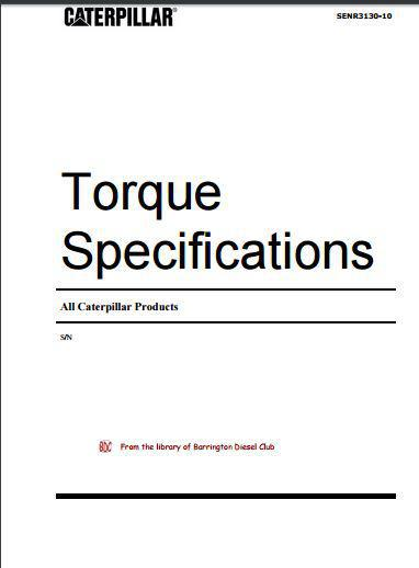 Caterpillar - General Torque Specifications p1