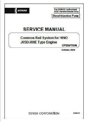 Hino J05E, JO8E Fuel System Fundamentals p1