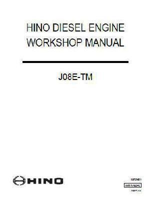 Hino JO8E workshop manual p1
