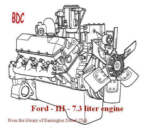 T444E engine drawing