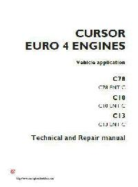 Iveco C78, C10, C13 technical repair manual p1 of 584 pages