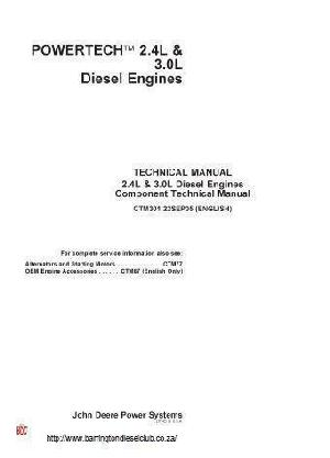 John Deere 4024 and 5030 workshop manual p1