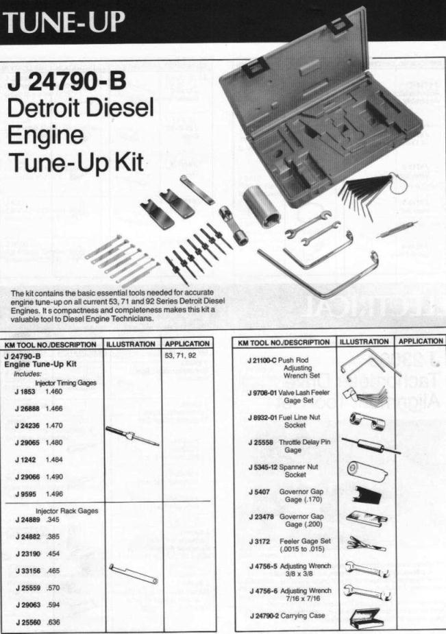 Kent Moore tune-up kit