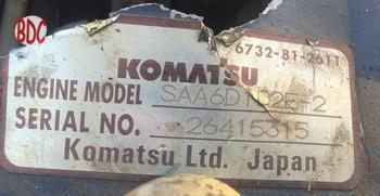 Image Komatsu 114 series engine, front view