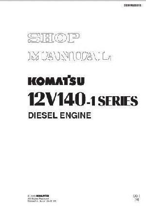 Komatsu 12v140 engine workshop manual p1
