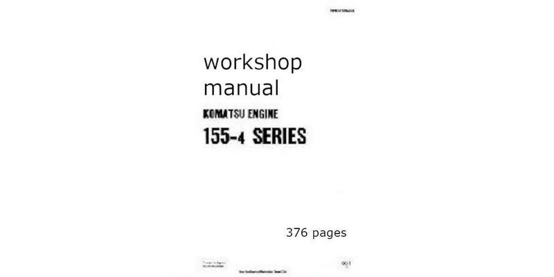 Komatsu 155-4 workshop manual p1