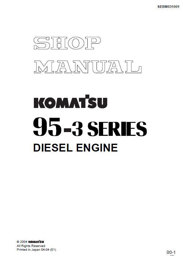 Komatsu 4D95D workshop manual p1