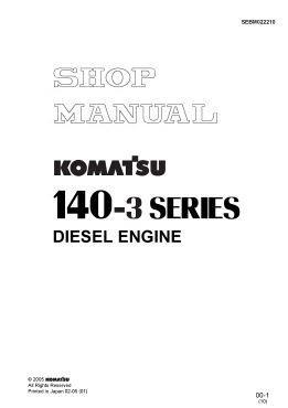 Komatsu 6D140 engine workshop manual p1