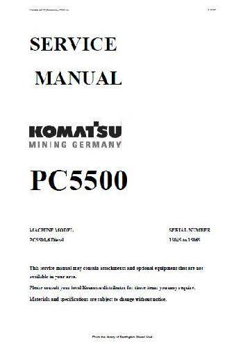 komatsu pc5500 excavator and engine specs. Black Bedroom Furniture Sets. Home Design Ideas