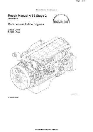 MAN D2676 Workshop manual p1