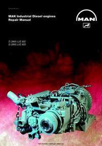 MAN D2866 LUE602, LUE605 industrial engine repair manual p1