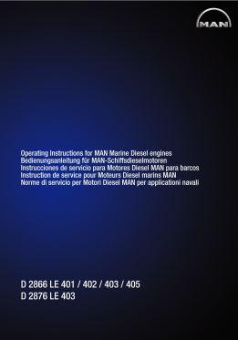 MAN D2866 operating instructions p1