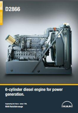 MAN D2866 power unit spec sheet p1
