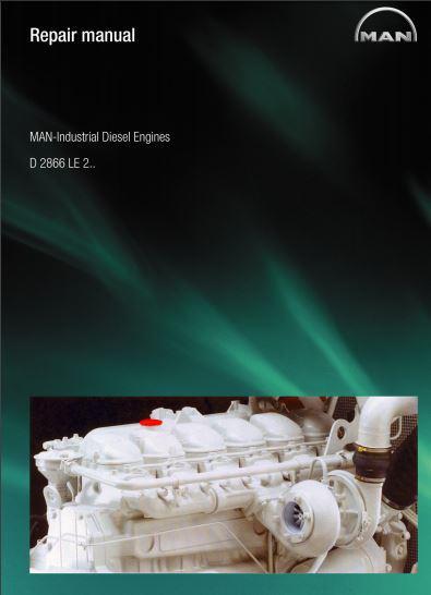 MAN D2866 industrial engine repair manual p1