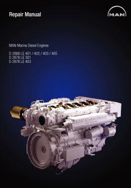 MAN D2866 marine engine repair manual p1