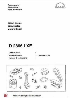 MAN D2866 parts manual p1