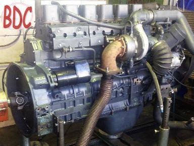 MAN D2866 engine on test