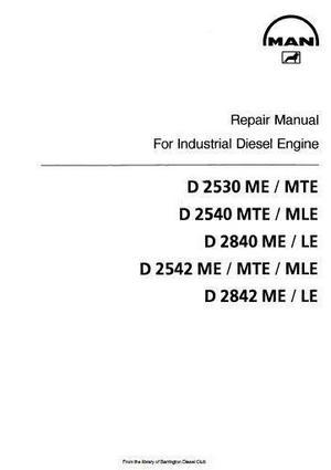 MAN workshop manuals D2530LE thru D2842LE p1