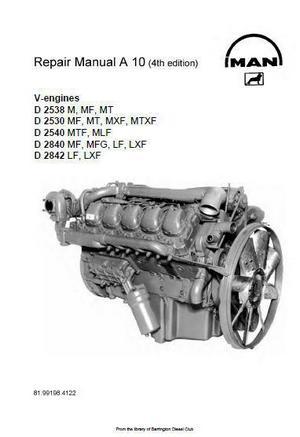 MAN workshop manuals D2530LF thru D2842LE p1