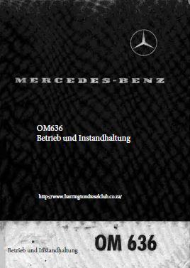 Mercedes OM636 Bedienungs und Wartungsanleitung p1