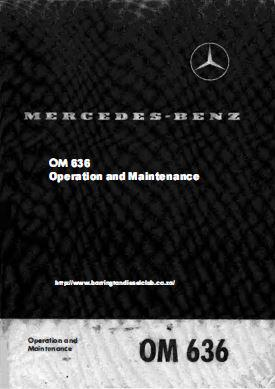 Mercedes OM636 operation and maintenance manual p1