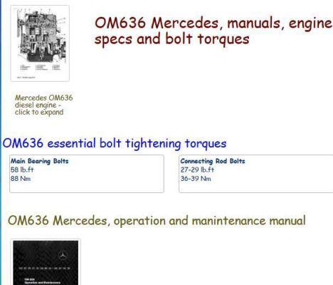 Mercedes om616 and om617 specs snip