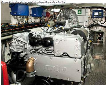 MTU 2000 - In NH1816 rescue boat