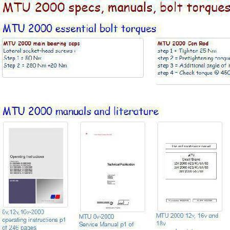 image essential specs snip - MTU 2000 series engines