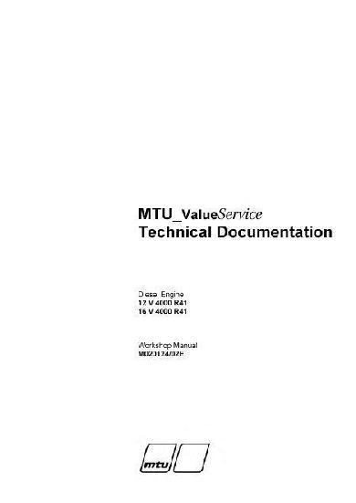MTU 4000 workshop manual p1