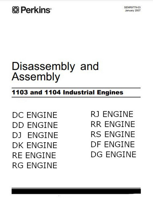 Perkins 1103 1104 assembly, diassembly 2007 manual p1