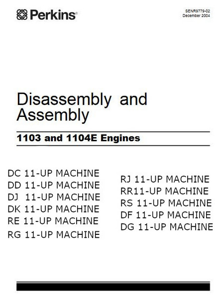 Perkins 1103E 1104E assembly, diassembly manual p1