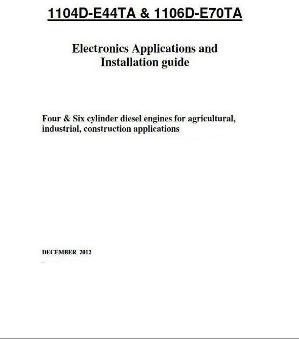 Perkins 1106TGA PDF Parts Book p1