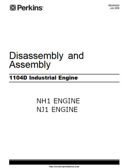 Perkins 1104D assembly, diassembly manual p1