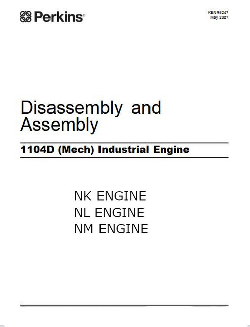 Perkins 1103D 1104D induatrial assembly-diassembly 2007 manual p1